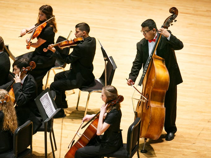 North Salem High School orchestra performs at the 2018