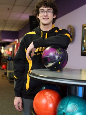 Chris Lundgren from the Clarkstown Schools is The Journal News Rockland boys bowler of the year. Here he is pictured at the New City Bowl in New City, April 4, 2015.