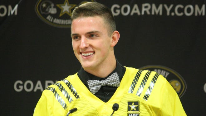 La Salle punter Drue Chrisman thanks his family, teammates and coaches on Nov. 12 for the honor to represent them in the U.S. Army All-American Bowl on Jan. 9, 2016.