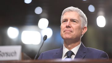 Neil Gorsuch prepares to testify before the Senate Judiciary Committee on March 22, 2017.