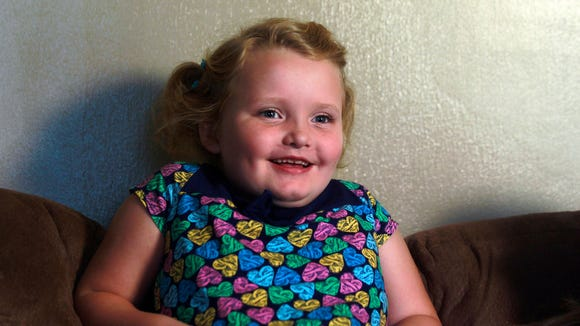 Honey Boo Boo, at  home in 2012.