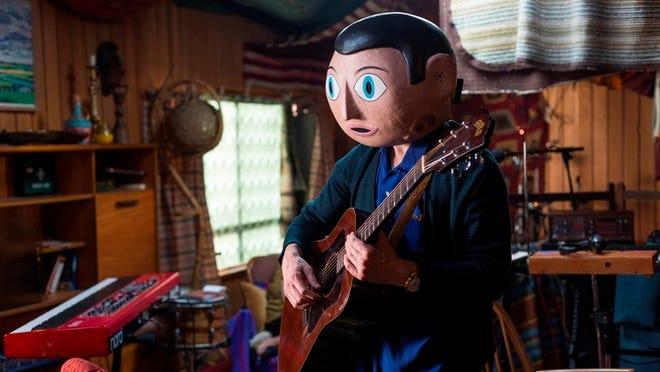 """""""Frank"""" stars Michael Fassbender in headgear."""