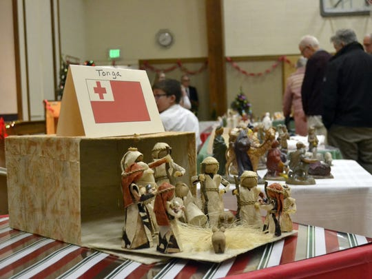 """This nativity set from Tonga was one of several from around the world on display during the """"Christmas Creches, Carols and Choreography!"""" holiday event Tuesday and Wednesday at The Church of Jesus Christ of Latter-day Saints in Green Bay."""