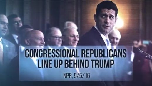 A still from an advertisement airing in northeastern Wisconsin as part of a seven-figure nationwide TV ad buy from the Democratic Congressional Campaign Committee.