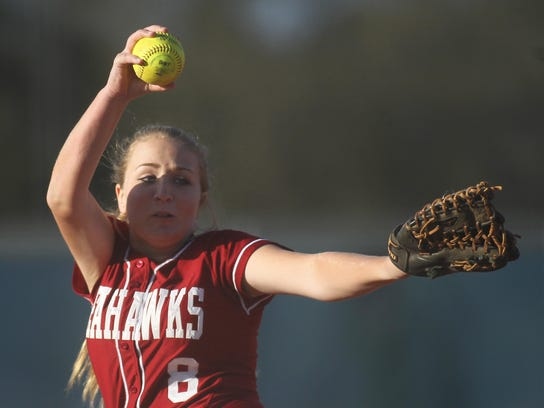 Franklin County's Megan Collins pitches against Wakulla