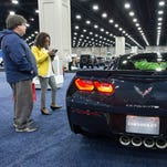 The 2015 Corvette Stingray on display at the Louisville Auto Show