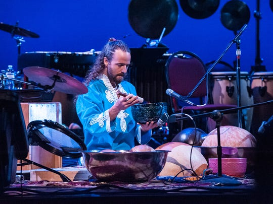 A performance at the 2015 Asheville Percussion Festival at the Diana Wortham Theatre.