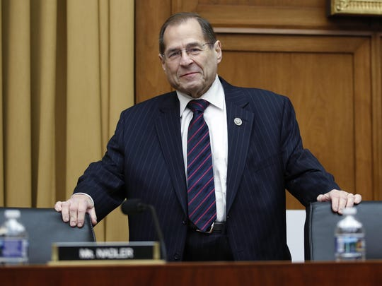 House Judiciary Committee ranking member Rep. Jerrold Nadler, D-N.Y., arrives for a House Judiciary hearing on Capitol Hill in Washington, Thursday, Dec. 7, 2017, on oversight of the Federal Bureau of Investigation. (AP Photo/Carolyn Kaster)