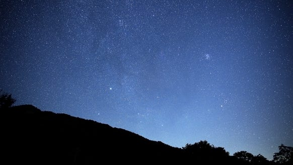 The sky is alive with stars at the Craggy Gardens Visitor