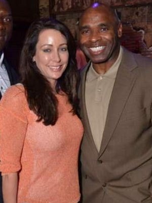 Tracy Blue and Charlie Strong