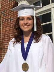 Rachel Price, valedictorian of Tabernacle Christian