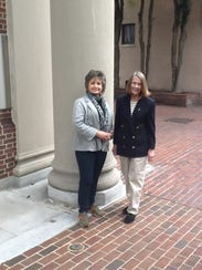 Connie Strott (left) and Lee Whaley were recently honored