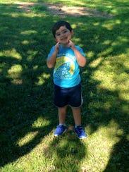 My son Dylan, 3.