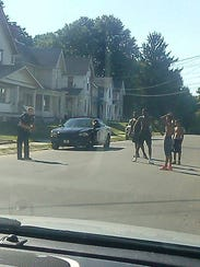 Photos and a short video of Mansfield Police officer