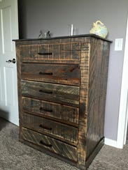 Furniture Stores Oshkosh Wi ... , builds furniture pieces from used pallets. (Photo: submitted