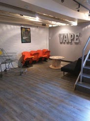 A look inside of CravinVapes at 251 S. Meridian St.