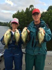 Sara and Bill Dingess with some nice crappies.