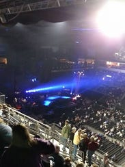 View from our seats at the Premier Center for Paul