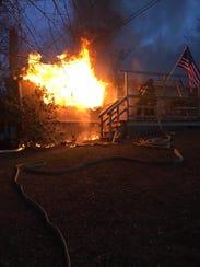 Firefighters battle a blaze in the 2800 block of Bryansville