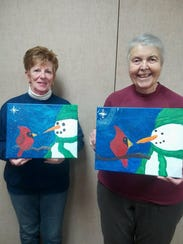 Bucyrus senior citizens Sandy Sparks, left, and Marilyn