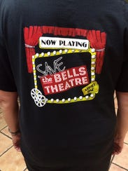 "T-Shirt for the ""Save the Bells Theatre"" campaign."