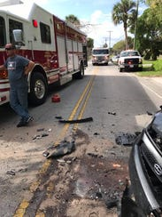 A head-on collision injures three on Indian River Drive