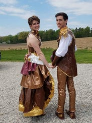 Rozlin Opolka and Conner Hawrey made their prom outfits