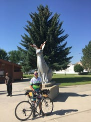It's a Jackabike and a Jackalope in Lusk, Wyoming.