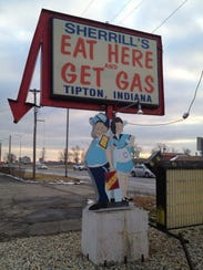 A former Tipton restaurant's sign, which was a longtime