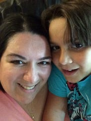 Kristin Cavuto and son Elliot.