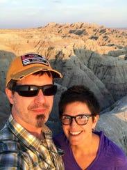 Daniel S. Perry and Lilia Espinoza at Badlands on the