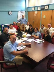 Perth Amboy Mayor Wilma Diaz and city department heads