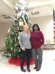 Dawn Hodges and Loretta Hudson at the Ouachita Council