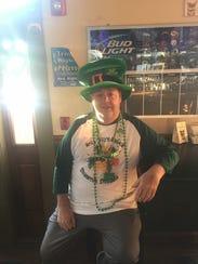 Steve Cowgill wears Ireland's green and orange inside