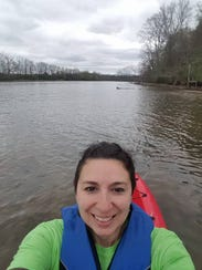 Christie Collins leads paddling tours as the Naturalist