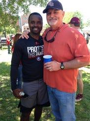 Former FSU football players Dexter Carter, left, and