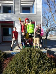 Emmett Lahr, his brothers and two friends at the old
