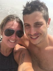Recovering heroin addicts Evan Ober and girlfriend,