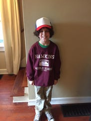 Conner Johnson, 11, of Wilmington, dressed as Dustin