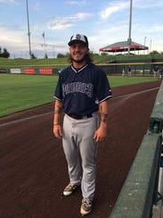 Watkins Memorial graduate Danny Sexton is a pitcher