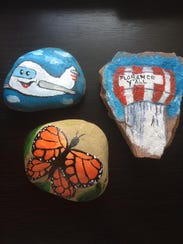 The three rocks that started a landslide of kindness.  NKY Hidden Rocks partners with groups such as Go Pantry in Boone County and the Children's Home of Northern Kentucky as part of the group's desire to improve the community and help local nonprofits serve others.