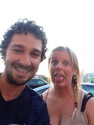 Bear native Chelsea Sunshine with actor Shia LaBeouf.