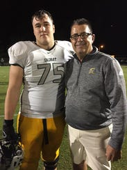 Calvary's Neal Tipton, posing here with coach Rodney