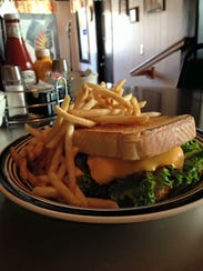 The S&J Burger is served on Texas toast.