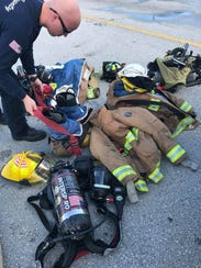 St. Lucie County firefighters responded to a gas leak