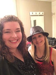 Sara Nicklin, left, and Vanessa Maly are singers who