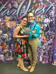 Alyssa Minuto and Elijah Stade, with Evolve Dance Company,