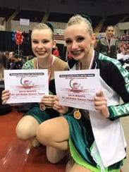 Evergreens Ava Bedessem and Sierra Zeller earned spots