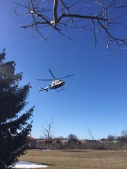 A person was airlifted following a serious crash Monday