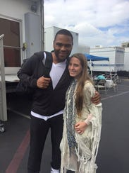 Autum Rene is pictured with Anthony Anderson, who currently